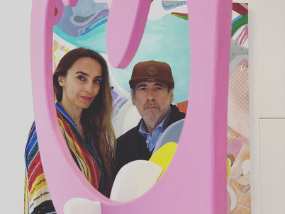 With Mick Jones at Misha's exhibition in London, May 2019.