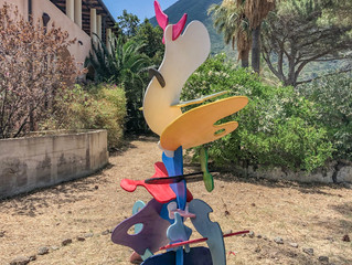 "Installation view in the gardens at the Palazzo Marchetti, Salina, Sicily. ""TULIPAQ & PINGA"", H:"