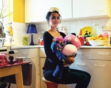 Artist Misha Milovanovich at her home in London