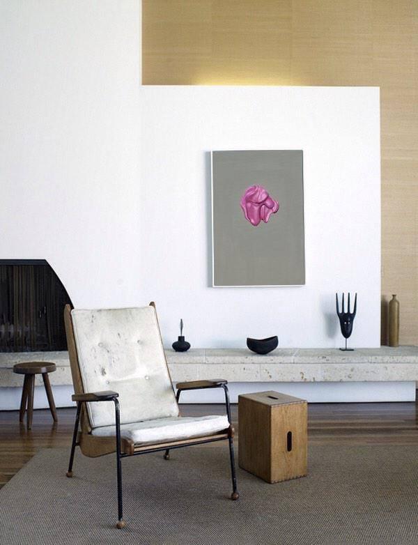 'Untitled (Chewing Gum Number 6)' 2014  Misha Milovanovich, H: 51 cm x W: 36 cm Acylic on canvas