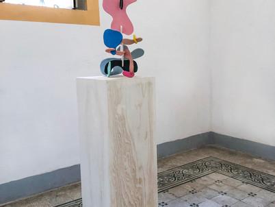 Installation images at Pallazo Marchetti, Salina, Sicily.
