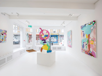 Installation image of my exhibition in London