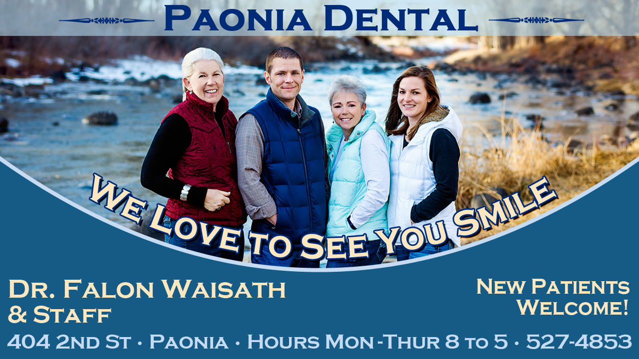 Paonia Dental advertisement
