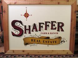 Hand-painted & Handmade framed sign