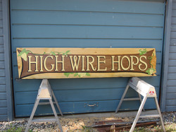 High Wire Hops Sign