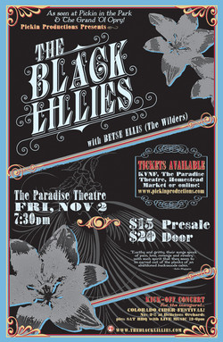 Black Lillies Poster