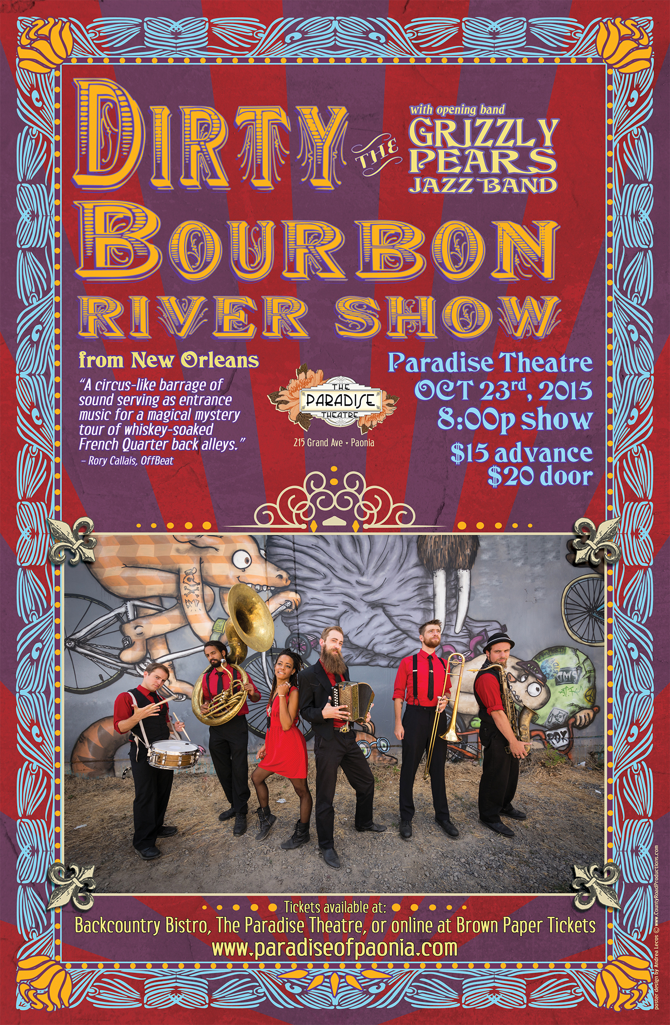 Dirty Bourbon concert poster