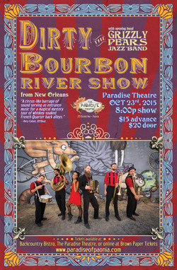Dirty Bourbon concert poster