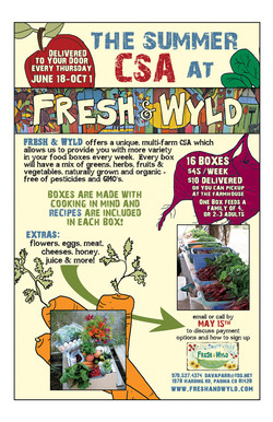 Fresh & Wyld CSA poster