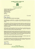 Free School Meals letter to Gavin Willia