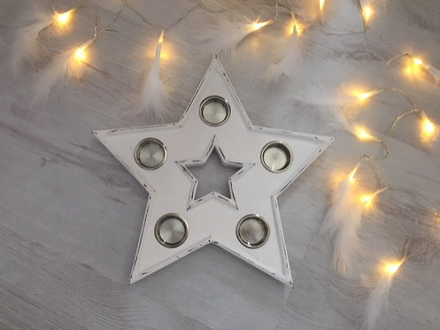 White Star Tea Light Holder