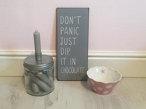 Dip It In Chocolate Metal Sign