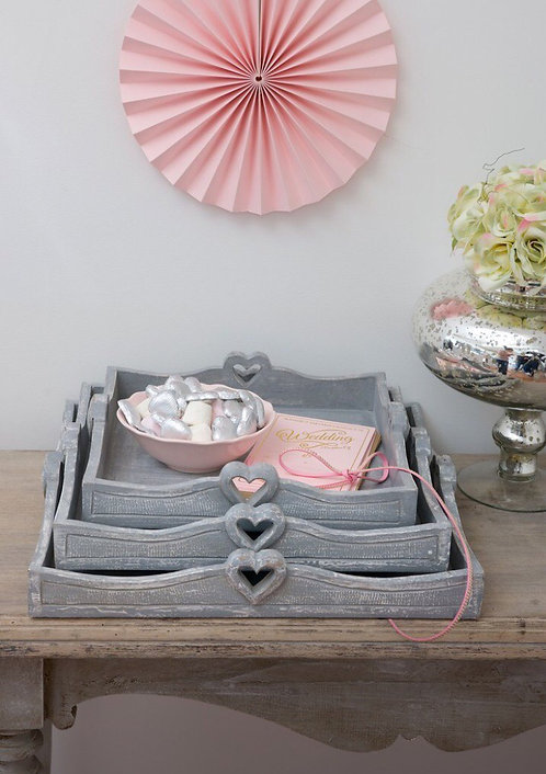 Heart Square Handle Trays