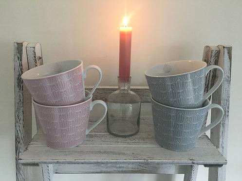 Grey Blossom Mug