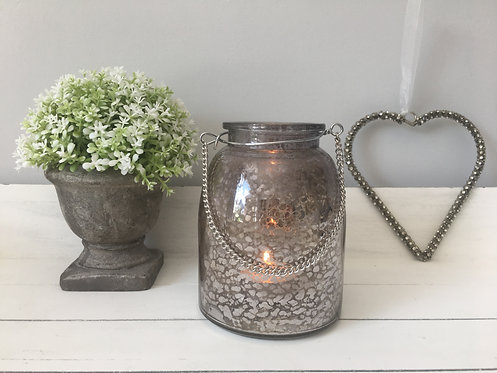 Silver Tea Light Holder with Chain