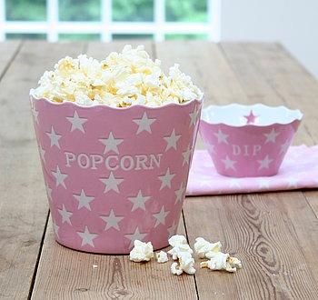 Pink Popcorn Star Bowl