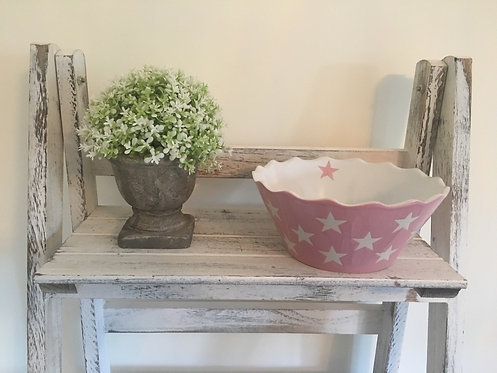 Small Pink Happy Bowl with Stars