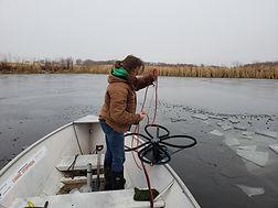 Installing Aeration Diffusers in Saskatchewan Pond & Lagoon