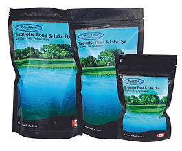 Turquoise Pond Dye from Pond Pro Canada perfect for lakes, dugouts and ponds