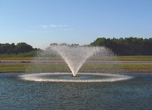 Aerating fountains for retention ponds, holding ponds, lakes, lagoons and more