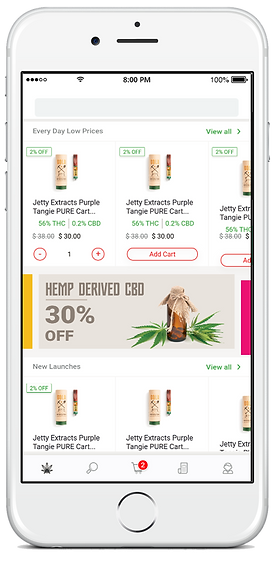 Delivery app for cannabis