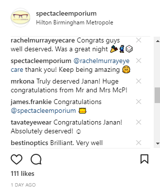 IG Reaction on Spectacle Emporium