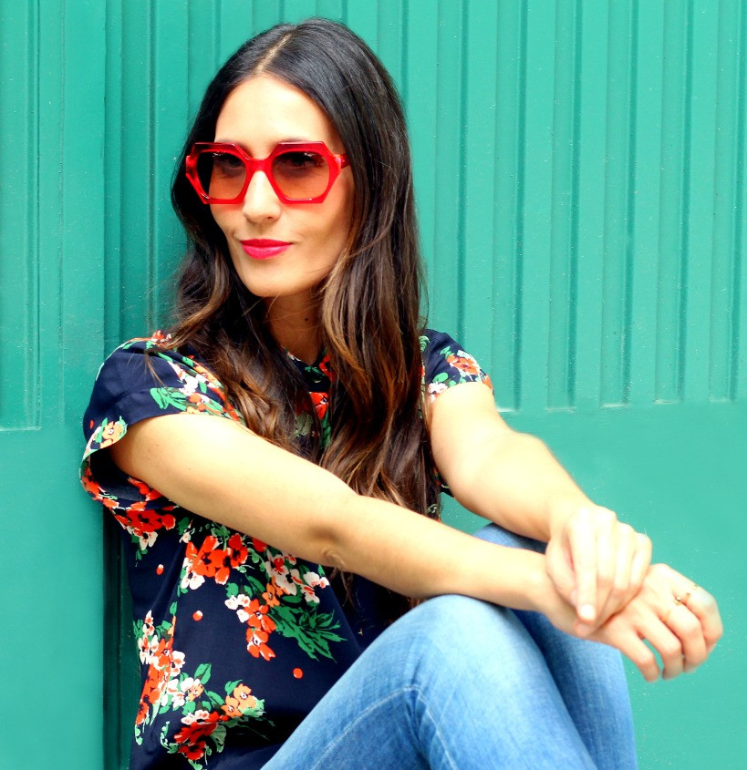 Nuria wears Kirk and Kirk Amanda sunglasses, exclusive to Spectacle Emporium