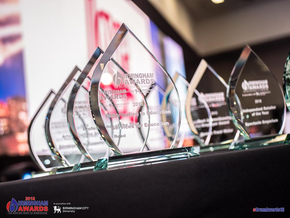 Birmingham Awards trophy for Spectacle Emporium, Kings Heath