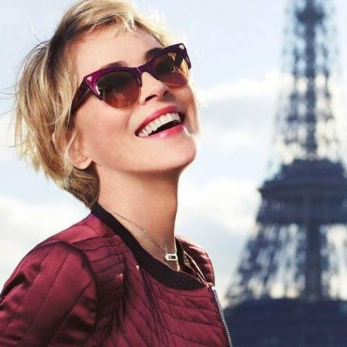 Sharon Stone wears Kirk & Kirk's sunglasses exclusive to Spectacle Emporium