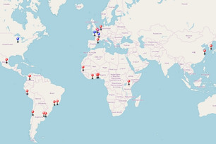 New: research hub map updated