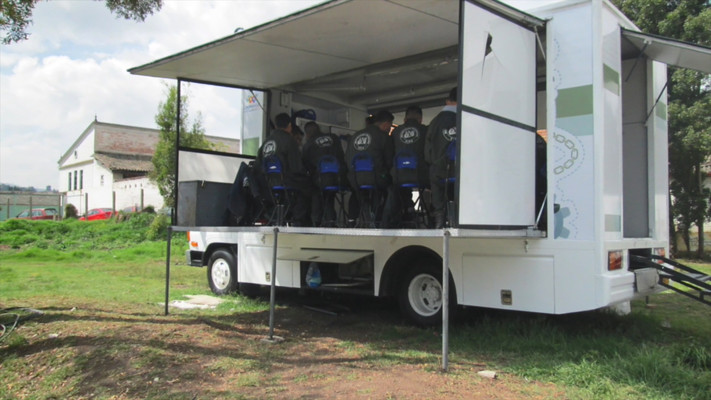 Mobile classrooms and markets in Colombia