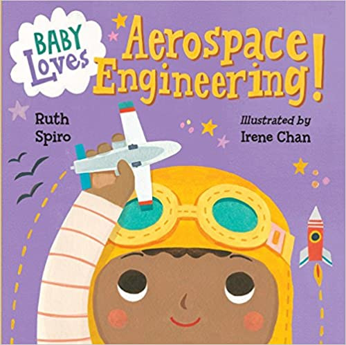 Book cover for baby loves aerospace engineering