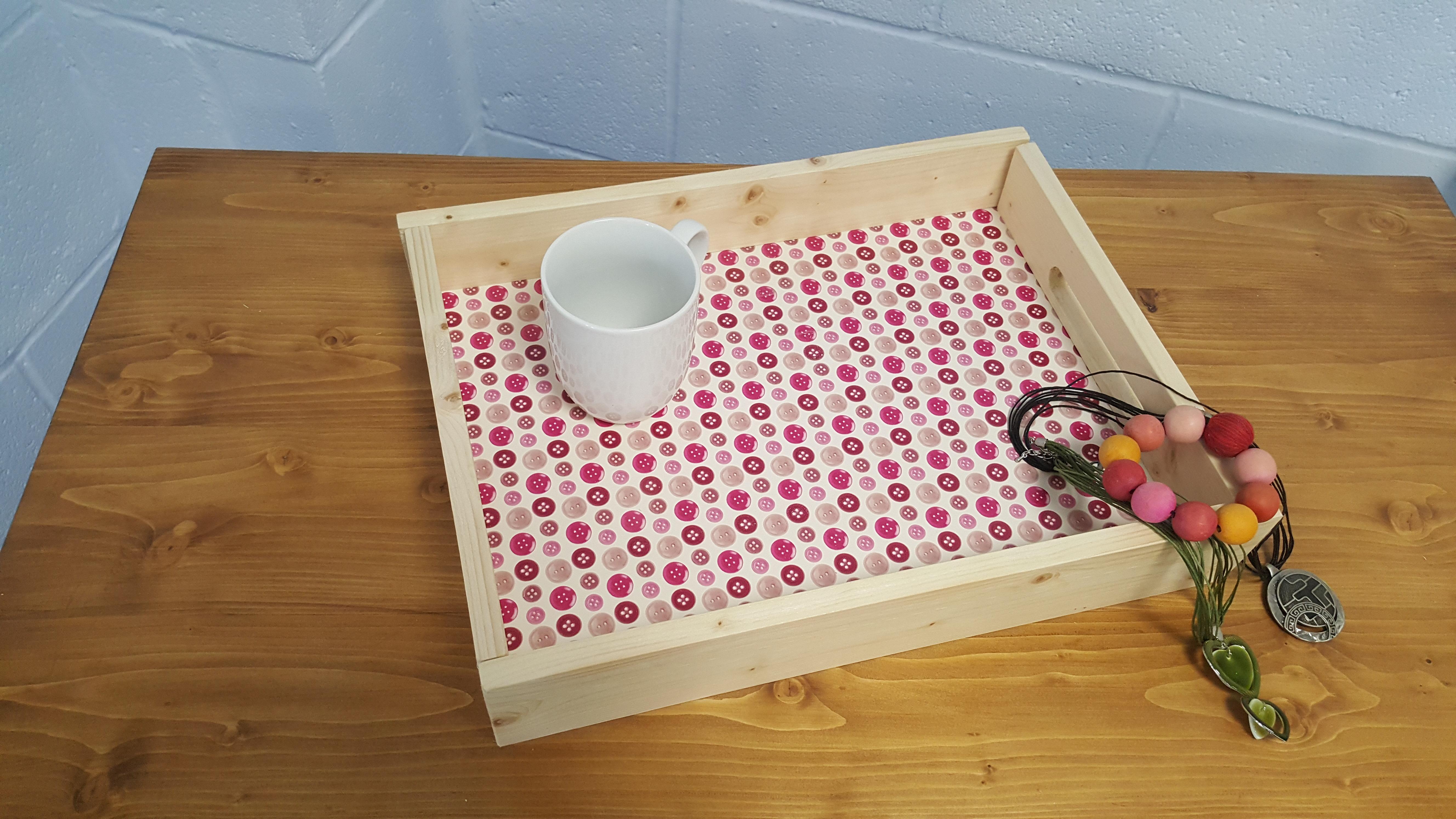 handmade personalised tea tray
