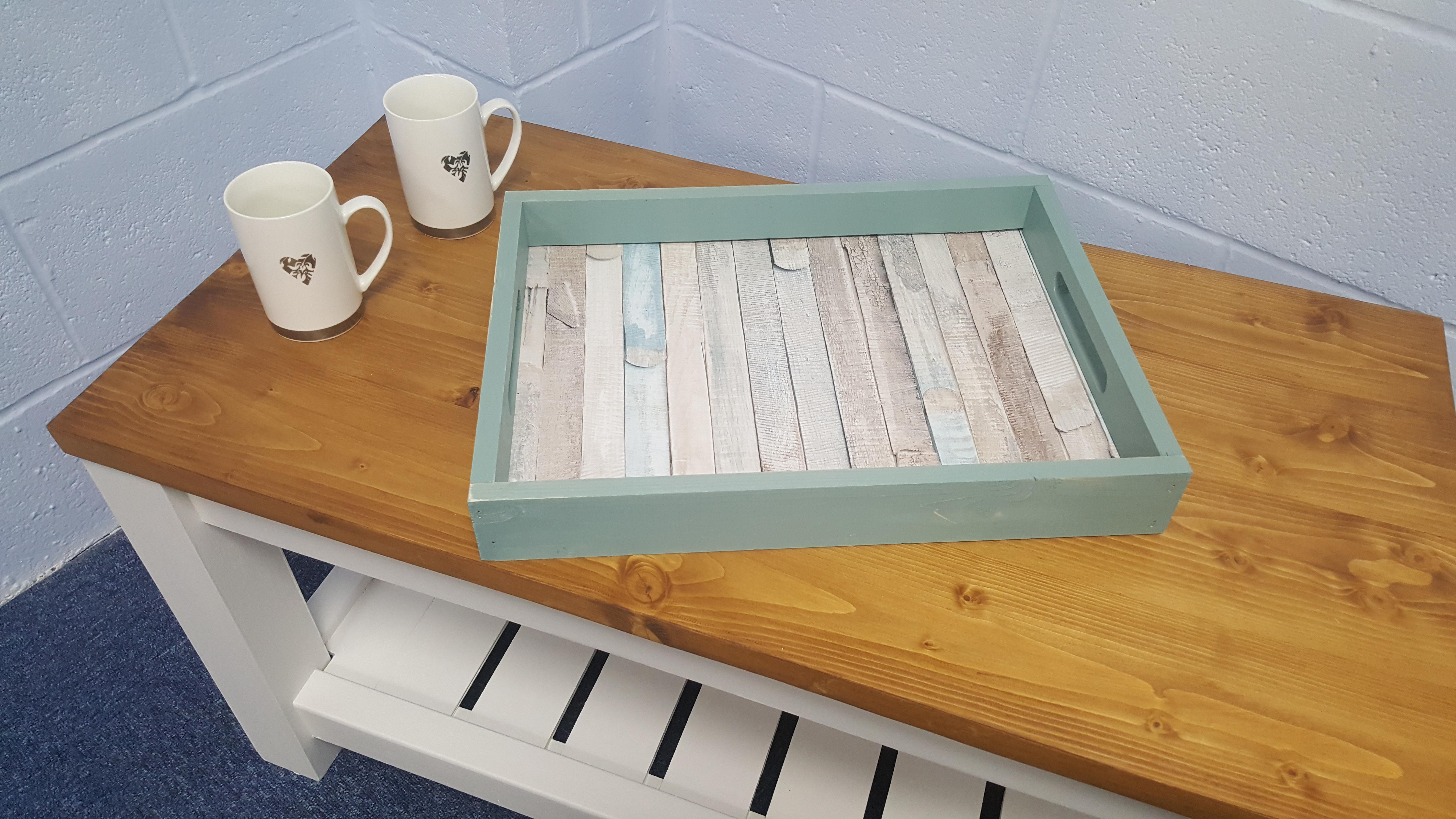 handmade shropshire tea tray