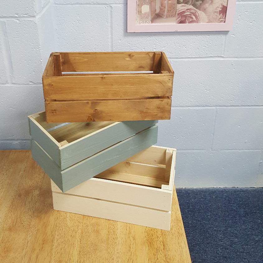 Handmade gift crate shropshire