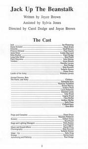 1989 Jack up the Beanstalk - Programme C
