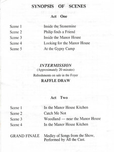 1991 Hoe's Your Father - Programme Order