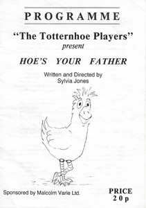 1991 Hoe's Your Father - Programme Front