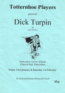 1997 Dick Turpin - Programme Front Cover