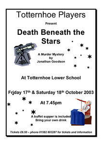 2003 Murder Mystery - Death Beneath the Stars, Programme.jpg