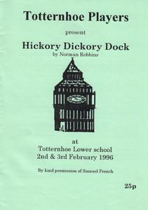 1996 Hickory Dickory Dock - Programme Fr