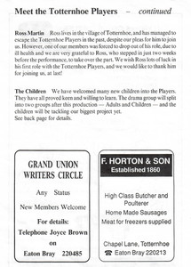 1991 Hoe's Your Father - Programme Meet
