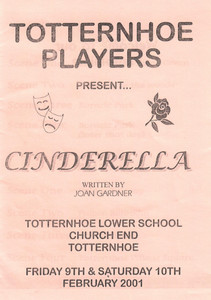 2001 Cinderella - Programme Front Cover-