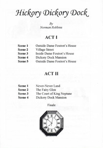 1996 Hickory Dickory Dock - Programme Or