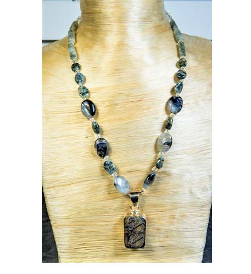 Quartz and Swarovski Necklace