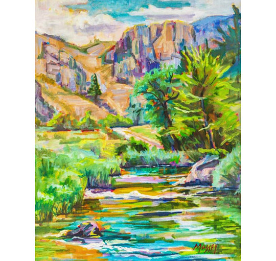Original Marie Massey Oil Painting