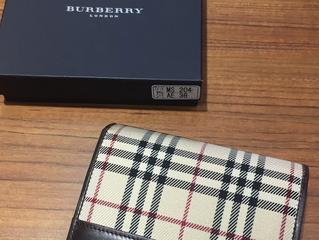 バーバリーの財布を買取させて頂きました。
