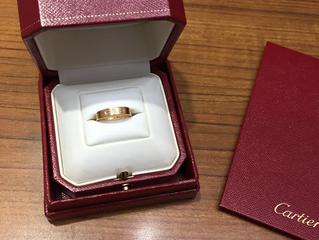 カルティエのリングを買取させて頂きました。