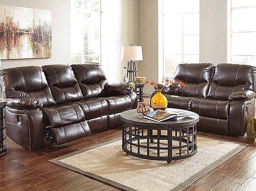 Burkeley Leather Sofa Set