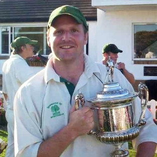 Ian Philiskirk with the first division trophy, 2009